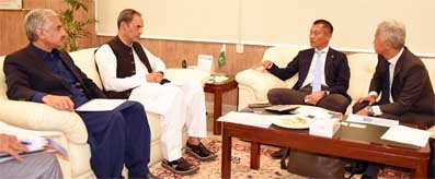 Zubair Gilani meeting with CE-DGI