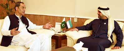 Zubair Gilani meeting with UAE Ambassador