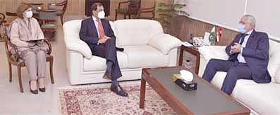 Atif Bokhari meeting with Egypt Ambassador